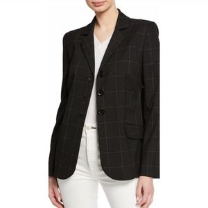 Elie Tahari Camila Grid Button Front Jacket